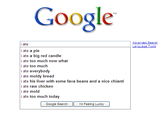 Google Search Box Suggestions