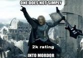YOU DON'T HAVE A 2K RATING