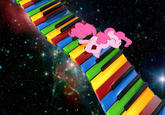 Cat on a Keyboard in Space