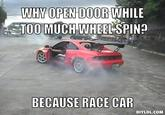 BECAUSE RACE CAR