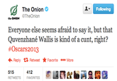 The Onion's Quvenzhané Wallis Controversy