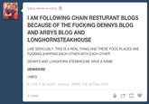 Foodom / Tumblr Restaurant Blogs