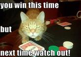 You Win This Time!
