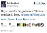 #ShutdownPickUpLines