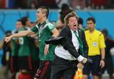 Miguel Herrera's Goal Reaction