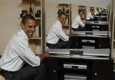 Barack Obama Watching TV