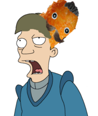 Weird-futurama-brain-slug-man