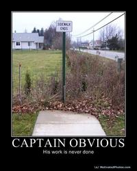 Captain Obvious