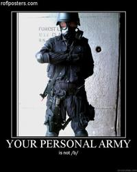 X is Not Your Personal Army
