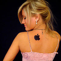 Ijustine-apple-tattoo