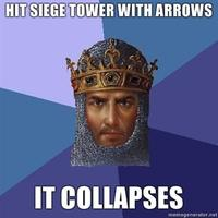 Hit-siege-tower-with-arrows-it-collapses