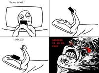 Text in Bed, Drop Phone on Face