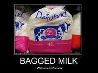 In Canada milk comes in bags