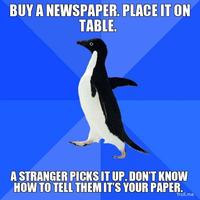 Buy-a-newspaper-place-it-on-table-a-stranger-picks-it-up-dont-know-how-to-tell-them-its-your-paper