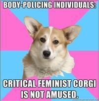 Critical Feminist Corgi