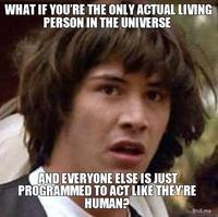 What-if-youre-the-only-actual-living-person-in-the-universe-and-everyone-else-is-just-programmed-to-act-like-theyre-human