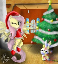 Merry_christmas_fluttershy_by_bronyontheway-d4j3ul2
