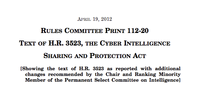 Cyber Intelligence Sharing and Protect Act (CISPA)