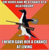 Socially Fed Up Penguin