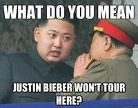 Justin Bieber to North Korea!