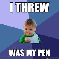 I Threw was my Pen