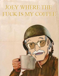 Stan Lee Asking for Coffee
