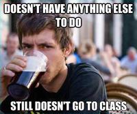 Lazy College Senior
