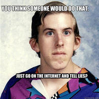 Just Go On The Internet and Tell Lies