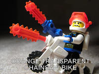 ORANGE TRANSPARENT CHAINSAW