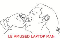 Antonio Banderas' Laptop Reaction