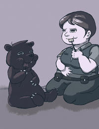 Miss Officer and Mr Truffles