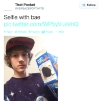 @Versacepoptarts' Hot Pocket Stunt