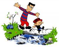 Calvin and Hobbes Log Bridge Parodies