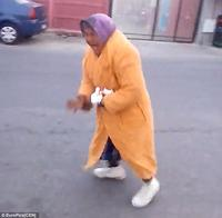 Romanian Thug Swings Elderly Woman