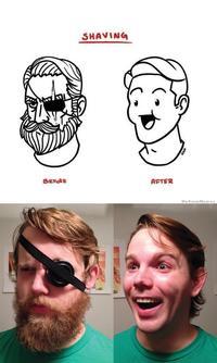 Beard Shaving Comic Parodies