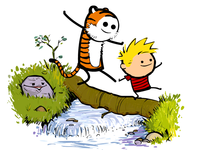 Calvin and Hobbes Log Bridge Parodies