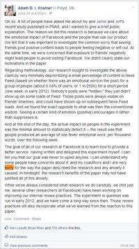 Facebook Emotional Contagion Experiment