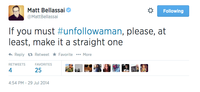 #UnfollowAMan