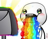 8ae puking rainbows know your meme