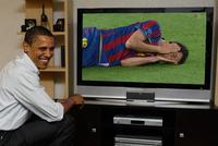 Barack Obama Watching TV