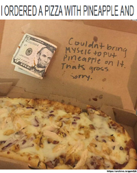 916 pineapple on pizza debate image gallery know your meme