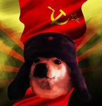 Russian Comrade Doggo meme