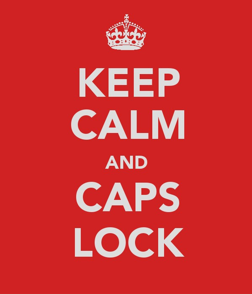Funny Caps Lock Quote: Keep Calm And Carry On