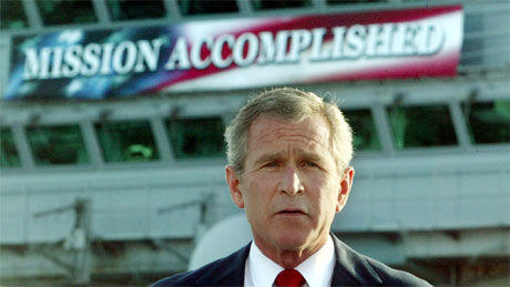 MISSIONACCOMPLISH George W. Bush White House Iraq