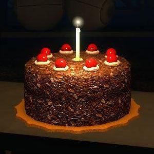 El abogado Azul Portal-cake