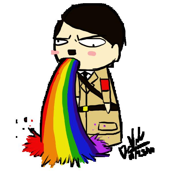 rainbow_puke_hitler_by_naigora49 d31znyi puking rainbows know your meme