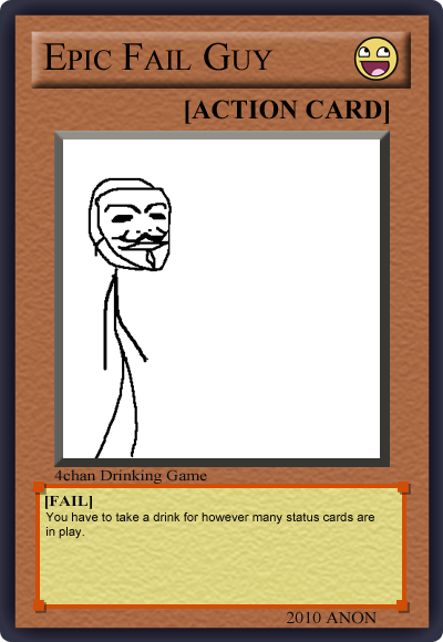 1269403574089 image 122003] 4chan drinking game cards know your meme