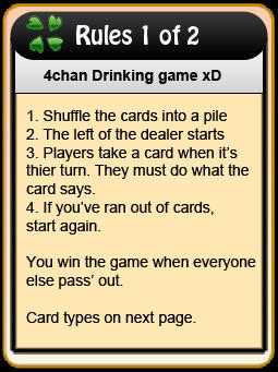 1294741995793?1305253088 4chan drinking game cards know your meme