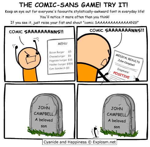 The Comic Sans Game!