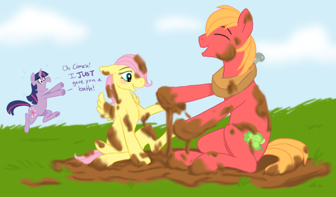 mlp__fun_with_mud_by_cartoonlion-d46633b.png
